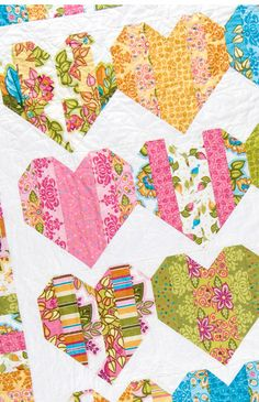 Heartstrings quilt pattern by Black Mountain Needleworks. Quick and easy with precut jellyroll strips.