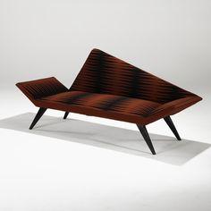 Folke Jansson; Sofa for S.M. Wincrantz, 1958.mid-centery chairs, blue velvet, gold details, custom furniture design,  custom made upholstery, bespoke furniture design