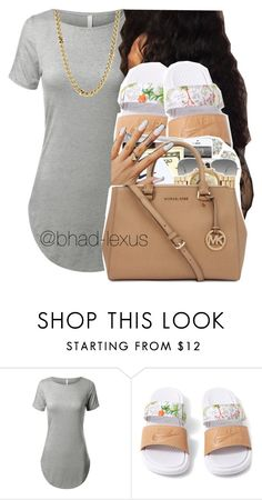 """""""3rd by da 4our wheeler """" by bhad-lexus ❤ liked on Polyvore featuring NIKE, Lauren Ralph Lauren, Ray-Ban and walkedin"""