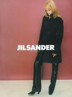 Jil Sander Fall 1995 Ad campaign. Shot by Craig McDean, with Amber Valletta.