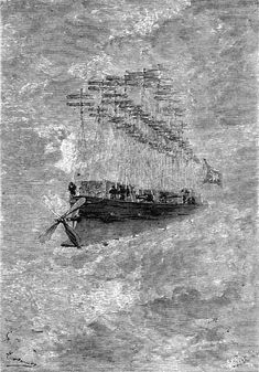 """steampunk-depot: """"None other than Jules Verne's 'Albatros' """" Jules Verne, Steampunk Airship, Dieselpunk, Hp Lovecraft, Flying Ship, World Of Tomorrow, Sea Crafts, France, French Artists"""