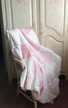 """Shabby Chic Vintage Chenille Quilt """"The Princess Diana"""""""