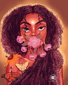 Digital artist celebrates Black women in gorgeous illustrations Black Love Art, Black Girl Art, Art Girl, Create Your Own Cartoon, Baddie, Drawings Of Black Girls, Black Girl Cartoon, Black Art Pictures, Black Artwork
