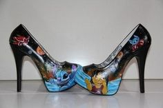 I found 'Lilo & stitch shoes disney heels custom handpainted Made to order' on Wish, check it out!
