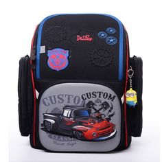 57.63$  Watch now - http://ali0yi.worldwells.pw/go.php?t=32717756014 - Children Primary School Bags Boys 3D Racing Car Print Orthopedic Backpack Kid Solid Stationery Bagpack Pupils Satchel 7-12 Years