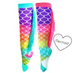 These colourful rainbow pattern socks with their fantastic flowing tassels down the backs , don& worry they will not interfere with your boots! Order today to avoid disappointment. Dance Socks, Dance Pants, Mermaid Socks, Rockabilly Baby, Kid N Teenagers, Dance It Out, Pink Socks, Patterned Socks, Mix Match