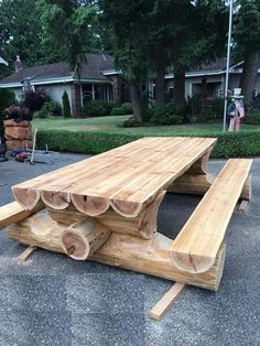 Rustic log furniture - Trendy Ideas For Yard Bench Ideas Picnic Tables yardideas – Rustic log furniture
