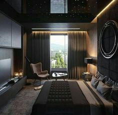37 Wonderful Luxury Bedroom Design Ideas You Will Love - If you've ever watched Lifestyles of the Rich and Famous, you are familiar with what luxury bedroom decor is. It is defined by it's beauty, material, . Men's Bedroom Design, Home Decor Bedroom, Lux Bedroom, Bedroom Furniture, 1930s Bedroom, Men Home Decor, Boys Furniture, Bedroom Romantic, Furniture Makers