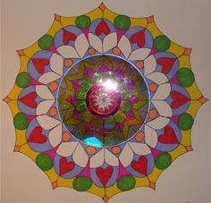 Turning old cds into mandalas, from mrspicasso's art room