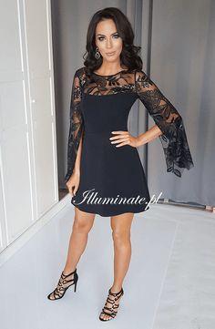 528e164341 Śliczna nowość- czarna sukienka EMILY z pięknie wykończonymi rękawami  lt 3   czarnasukienka