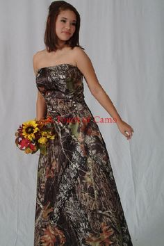 camoflauge prom dress