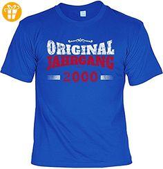 T-Shirt zum Geburtstag - Original Jahrgang 2000 - Geburtstagsgeschenk - Fun shirt - Geschenkidee - royalblau (*Partner-Link)