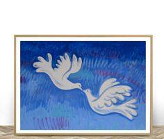Bird Print Pigeon Wall Art Printable Art Love Birds Home