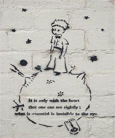 The Little Prince – Antoine de Saint-Exupéry.   28 Brilliant Works Of Literary Graffiti