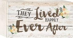 They Lived Happily Ever After 5 x 8 Wood Block-Style Wall Art Sign Plaque * More info could be found at the image url. (This is an affiliate link and I receive a commission for the sales)