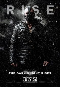 Bad ass Bane! The Dark Night Rises (July 20)   Can't wait;)