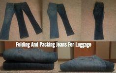 Guardar calças jeans