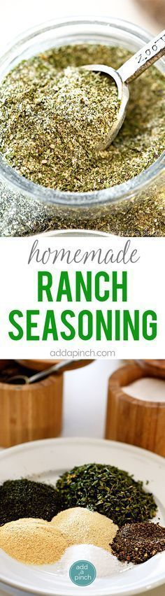 Homemade Ranch Seasoning Mix - Homemade ranch seasoning makes a great seasoning to keep on hand for ranch dressing, dips, chips, and more! // http://addapinch.com