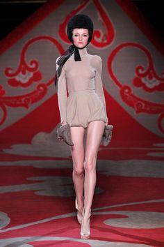 Ulyana Sergeenko at Couture Fall 2012
