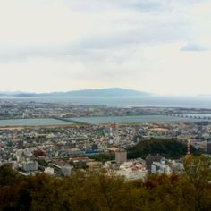 view from bizan park in Tokushima city
