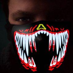 LED Mask Rave Luminous Flashing Party Light Up Masks Light Up Dance  Halloween  fashion   4992f2dba029