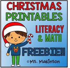 """Christmas Printables - Literacy and MathThis is a THANK YOU to my 4000+ followers! :) I appreciate your support. Merry Christmas!This sampler is similar to my other printable packets:Summer Printables - FIRST GRADE May Printables - KINDERGARTEN This is a """"no prep"""" printable packet that can be used as a whole-group activity, centers, morning work, homework, review, etc."""