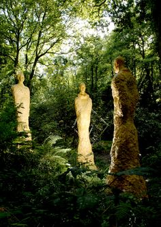 Broomhill Sculpture Garden, North Devon: with more than 300 sculptures set in just 10 acres of land there is plenty to see. The garden winds downhill through woods and to a gentle river, with a flat top-terrace featuring a wide variety of figures and larger pieces found on the lower levels.