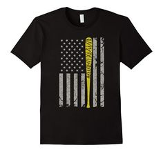 Amazon.com: Vintage American Flag Barbed Wire T-shirt Yellow Bat $19.99
