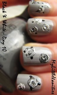 Grey tone roses
