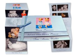 #Geburtsanzeigen - Unser kleiner Prinz/Prinzessin stellt sich vor - in jeder gewünschten Farbe erhältlich Illustration, Home Decor, The Petit Prince, Baby Blue, Little Princess, Princesses, Invitations, Colour, Dekoration