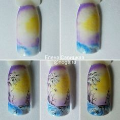 Nails University. Ногти и Маникюр пошагово. Cat Nails, Pink Nails, Winter Nail Art, Winter Nails, Christmas Nail Designs, Christmas Nails, Gorgeous Nails, Pretty Nails, Tropical Nail Designs