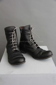 Zipper and laces classic leather boots | Products | Darklands Berlin