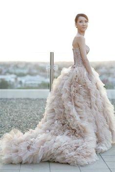 pastel wedding dress - the style salon
