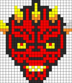 Star Wars Darth Maul hama perler beads - granny square blanket?
