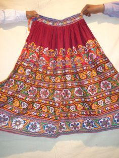 vintage skirts mirror work / banjara by jaisalmerhandloom on Etsy, $399.00