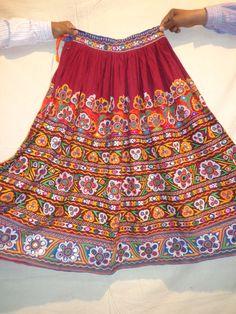vintage skirts mirror work / banjara by jaisalmerhandloom on Etsy