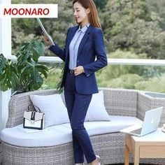2 Pieces Set Women Business Long Suit Jacket with Pant Set Damen Langer Anzug Womens Fashion Casual Summer, Spring Outfits Women, Casual Fall Outfits, Women's Summer Fashion, Women's Fashion, Flattering Dresses, Tight Dresses, Formal Dresses, Blazers For Women