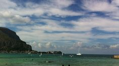Mondello's beach.