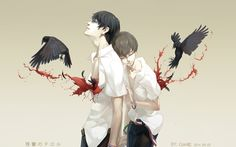 """steppingoncellphones: """"残響のテロル Corvus【烏鴉】 by Coin松 Posted with artist's permission."""""""