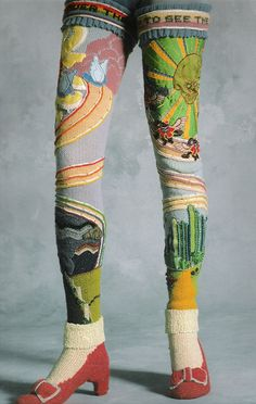 Susanna Lewis OZ socks. Circa 1978.