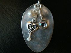 Handcrafted flattened spoon pendant with by TheSilverCraftsman, $15.00