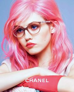 Charlotte Free for Chanel Eyewear Fall/Winter 2014 Advertising Campaign, ph. by Karl Lagerfeld.