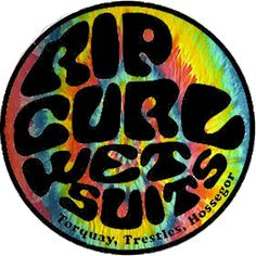 """""""RipCurl Tiedye"""" Stickers by strangdesigns 