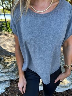 Mono B Time to Relax Washed Cropped Tee, Free Shipping! #me #look #denim #instadaily #blackleggings #leggingsass #fashiondaily #dogs #tunic #tbt Sporty Chic, Athletic Wear, Crop Tee, Sophisticated Style, Alternative Fashion, Black Leggings, Spring Outfits, Outfit Of The Day, Short Sleeves
