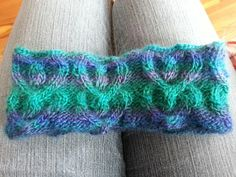 Heart cable headwrap