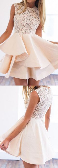 I like the lacey top and the layered skirt