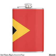 East Timor, flag Flasks