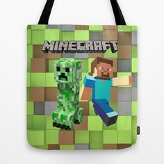 Minecraft tote bag