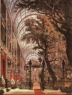 The Coalbrookdale Gates at the Great Exhibition in London, 1851.