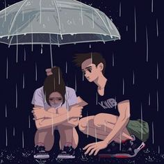 Discover the finest artists from animation, games, illustration and comics. Animated Love Images, Animated Gif, Anime Kunst, Anime Art, Art Triste, Character Illustration, Illustration Art, Rain Gif, Animiertes Gif